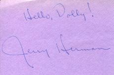 Jerry Herman Hello Dolly Mame Broadway Composer lyricist Signed Autograph