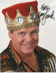 "Jerry Lawler Autographed 8"" x 10"" Crown Photograph with King Inscription"