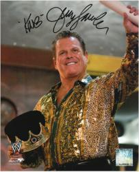 "Jerry Lawler Autographed 8"" x 10"" Pose Photograph with King Inscription"
