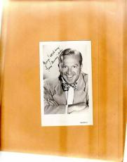 Jerry Lester-signed photo-vintage post card