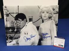 Jerry Lewis And Stella Stevens Signed 11x14 Photo - PSA/DNA # W52582