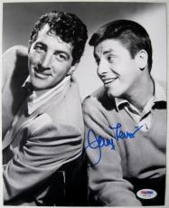 JERRY LEWIS Signed 11x14 Photo PSA/DNA COA Auto AUTOGRAPH w/ DEAN MARTIN