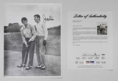 Jerry Lewis Dean Martin Dual Signed 11x14 Bw Photo Auto Psa Loa Ph122