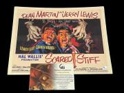 Jerry Lewis Scared Stiff Signed Autograph Lobby Card Photo COA w/ Dean Martin