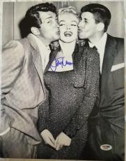 JERRY LEWIS Signed 11x14 photo Marilyn Monroe Dean Martin PSA/DNA COA Pic Proof