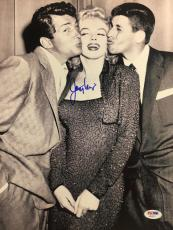 JERRY LEWIS Signed 11x14 w/ MARILYN MONROE & DEAN MARTIN AUTO PSA/DNA COA F