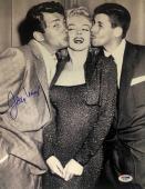 JERRY LEWIS Signed 11x14 w/ MARILYN MONROE & DEAN MARTIN AUTO PSA/DNA COA