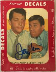 JERRY LEWIS Signed 1952 Star Cal Decal Dean Martin PSA/DNA COA Pic Proof RARE!
