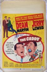 JERRY LEWIS Signed 1964 The Caddy Dean Martin 14x22 Poster PSA/DNA COA