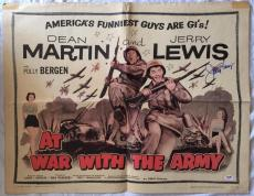 JERRY LEWIS Signed At War With the Army 1958 27x41 Poster Dean Martin PSA COA