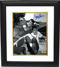 Jerry Lewis signed B&W 8x10 Photo Custom Framed in Headlock w/ Dean Martin (movie/comedian/entertainment)
