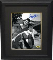 Jerry Lewis signed B&W 8x10 Photo Custom Framed in Headlock w/ Dean Martin (movie/comedian/entertainment)