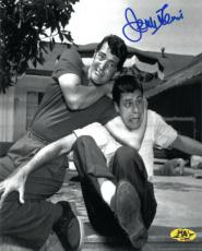 Jerry Lewis signed B&W 8x10 Photo in Headlock w/ Dean Martin  (movie/comedian/entertainment)