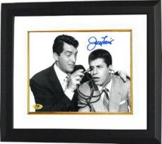 Jerry Lewis signed B&W 8x10 Photo with stethoscope w/ Dean Martin Custom Framed (movie/comedian/entertainment)