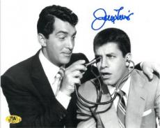 Jerry Lewis signed B&W 8x10 Photo with stethoscope w/ Dean Martin (movie/comedian/entertainment)