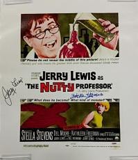 JERRY LEWIS + STELLA STEVENS Signed 16x20 Canvas #1 The Nutty Professor PSA/DNA