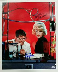 JERRY LEWIS + STELLA STEVENS Signed 16x20 Canvas #3 The Nutty Professor PSA/DNA