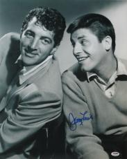 Jerry Lewis w/ Dean Martin Signed Authentic 16x20 Photo PSA/DNA #W27676