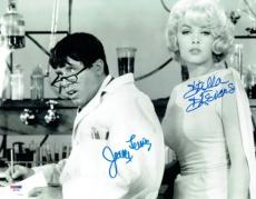 Jerry Lewis/Stella Stevens Signed Nutty Professor Auto 11x14 PhotoPSA/DNA#X06792
