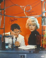Jerry Lewis/Stella Stevens Signed Nutty Professor Auto 16x20 Photo PSADNA#W98787