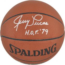 New York Knicks Jerry Lucas Autographed Basketball - Mounted Memories