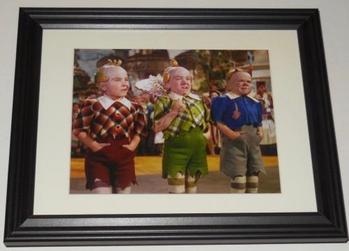 Jerry Maren Autographed 8x10 Color Photo (framed & Matted) - The Wizard Of Oz!