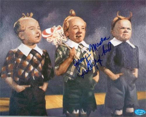 Jerry Maren autographed 8x10 photo (Wizard of Oz Munchkin) Image #SC3 inscribed Lollipop Kid