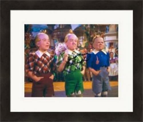 Jerry Maren autographed 8x10 photo (Wizard of Oz Munchkin) #SC2 inscribed Lollipop Kid Matted & Framed