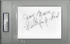 "Jerry Maren Signed 4""x6"" Card Wizard Of Oz Munchkin Psa/dna Encap 83706123"