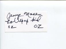 Jerry Maren Wizard Of Oz Munchkin Lollipop Kid Signed Autograph