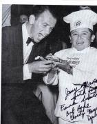 Jerry Marren Signed 8x10 B/W Chef Photo UACC RD COA AFTAL