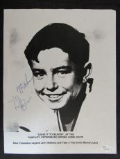 Jerry Mathers Leave It To Beaver Signed Auto Autograph 8.5x11 Photo JSA S16336