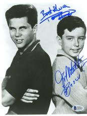 "Jerry Mathers & Tony Dow Autographed 8""x 10"" Leave it to Beaver Back to Back Photograph - Beckett COA"