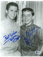 "Jerry Mathers & Tony Dow Autographed 8""x 10"" Leave it to Beaver Hand in Pockets Photograph - Beckett COA"