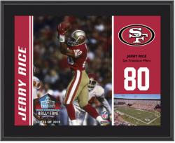 San Francisco 49ers Jerry Rice 10.5'' x 13'' Sublimated Plaque - Mounted Memories