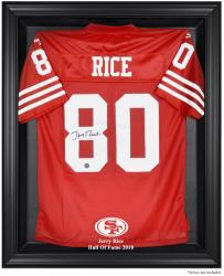 San Francisco 49ers Jerry Rice Hall of Fame Black Jersey Case - Mounted Memories