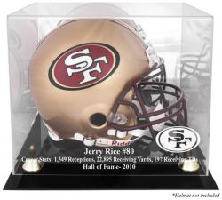 San Francisco 49ers Jerry Rice Hall of Fame Helmet Case - Mounted Memories