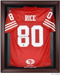 San Francisco 49ers Jerry Rice Hall of Fame Mahogany Jersey Case - Mounted Memories