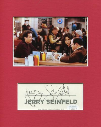 Jerry Seinfeld at Diner Monk's Cafe With Cast Signed Autograph Photo Display JSA