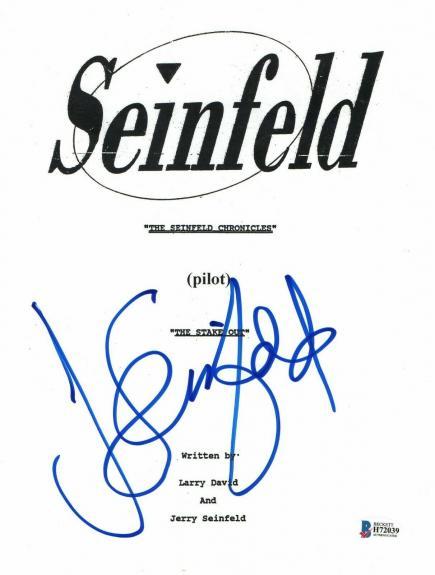 'jerry Seinfeld'  Autograph  'seinfeld'  Signed Tv Script Bas Beckett Coa 3