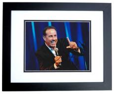 Jerry Seinfeld Autographed Comedian 8x10 Photo BLACK CUSTOM FRAME