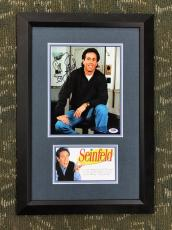 JERRY SEINFELD Autographed/signed Custom Framed Display- PSA # AC52609