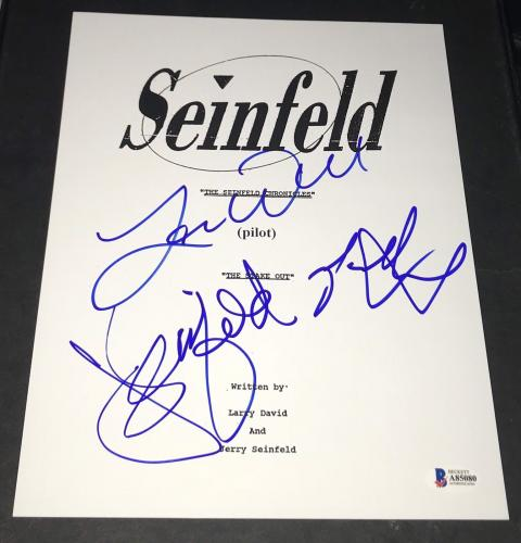 Jerry Seinfeld Larry David & Alexander Signed Autograph Pilot Ep Script Bas Coa