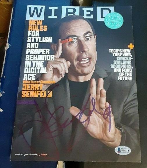 JERRY SEINFELD Comdian TV Star SIGNED AUTOGRAPHED 2014 Wired Magazine BAS S64110