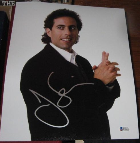 Jerry Seinfeld Comedian Tv Star Signed 11x14 Photo Bas/coa Autographed B90039