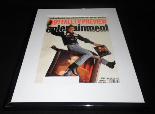 Jerry Seinfeld Framed ORIGINAL 1992 Entertainment Weekly Magazine Cover