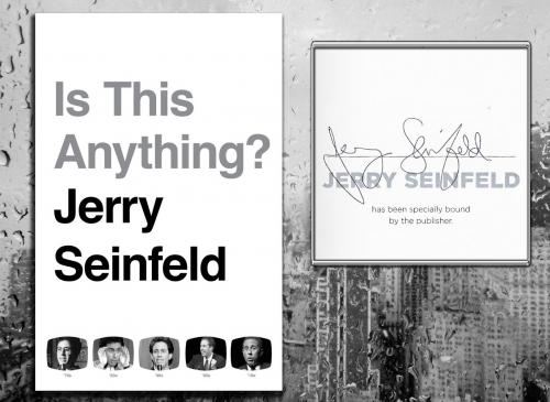 Jerry Seinfeld IS THIS ANYTHING? Signed Hardcover Book