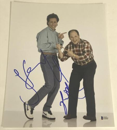 Jerry Seinfeld Jason Alexander Signed 11x14 Photo Authentic Autograph Beckett
