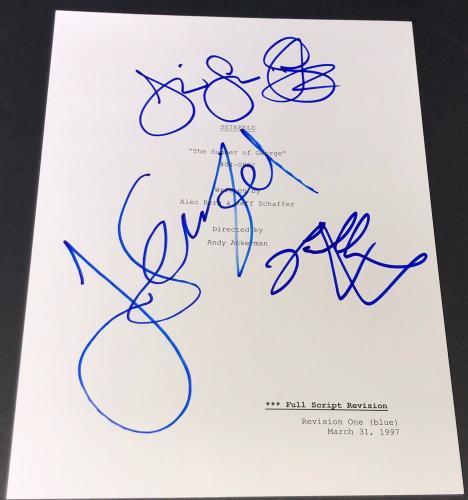 "Jerry Seinfeld Jason Alexander Signed Autograph ""summer Of George"" Show Script"
