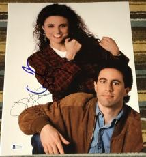 JERRY SEINFELD & JULIA LOUIS DREYFUS SIGNED AUTOGRAPH CLASSIC SHOW 11x14 PHOTO